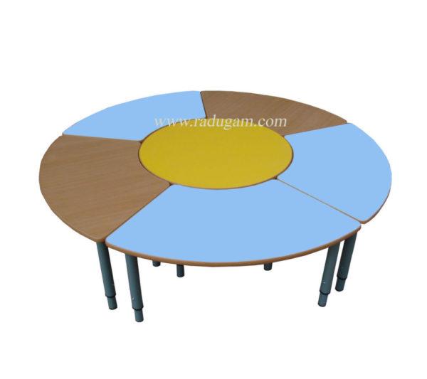 Стол круглый «Конференция» (6 столов), регулируемый по высоте