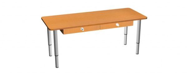 Стол-парта  с ящиками 1200x500x460/580 мм