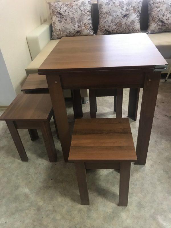 Стол+4 табуретки раскладной