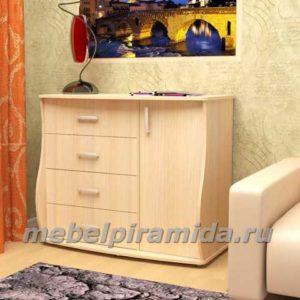 Комод Вернисаж-2, 910х1080х510, 4 ящика + дверца