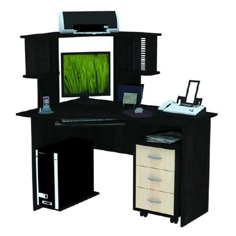 Стол компьютерный СК-13 угловой с выкатной тумбой, 1300х1200х800