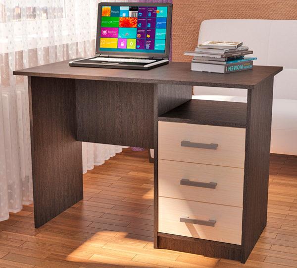 Стол письменный однотумбовый с ящиками Фронда-1, 750х1050х600