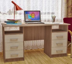Стол письменный двухтумбовый с ящиками Фронда-2, 750х1400х600