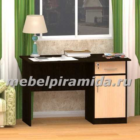 Стол письменный однотумбовый с дверцей Фронда-3, 750х1200х600