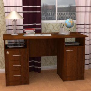 Стол письменный двухтумбовый с ящиками и дверцей Фронда-4, 750х1300х600