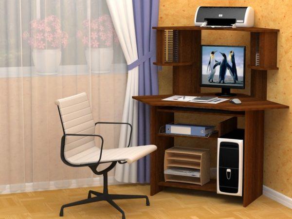 Стол компьютерный СК-12 угловой, 1300х900х900