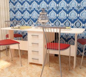 Стол раскладной с ящиками СТ-6, 750х1800(400)х800