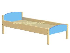 Кровать 1-но ярусная комбинированная, массив, ЛДСП, 1430/1230*630*600