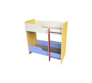 Кровать двухэтажная, ЛДСП, бук / цветная 1428*632*1400  НОВИНКА