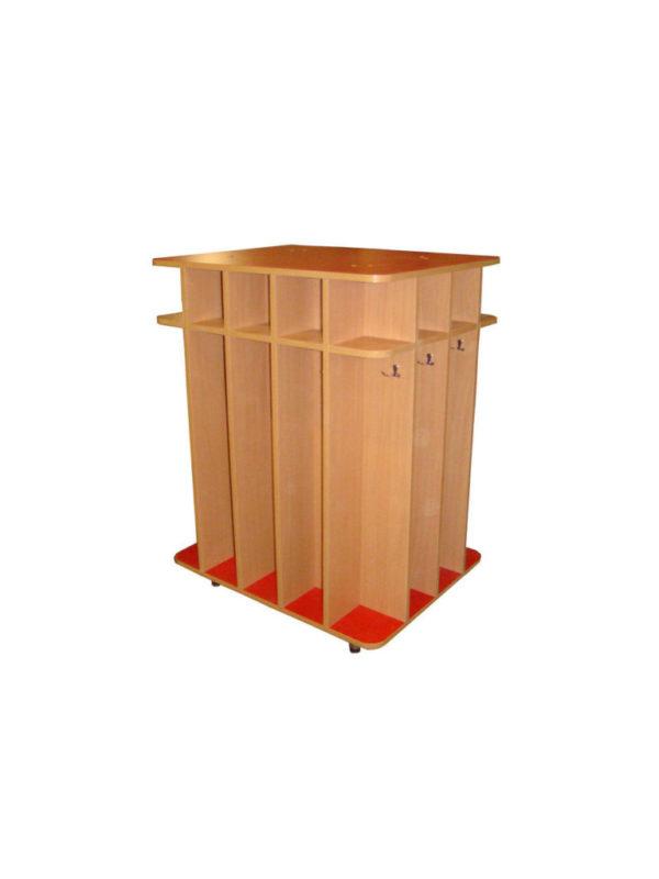 Шкаф для полотенец напольный 14-и секционный, ЛДСП, 794*632*1050