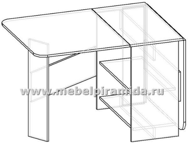 Стол-тумба СТ-5, 750х1800 (400)х800, полки