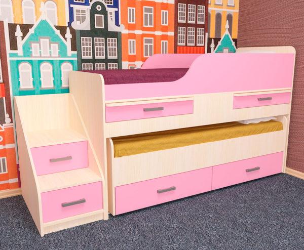 Кровать двухместная детская ЛЁСИКИ