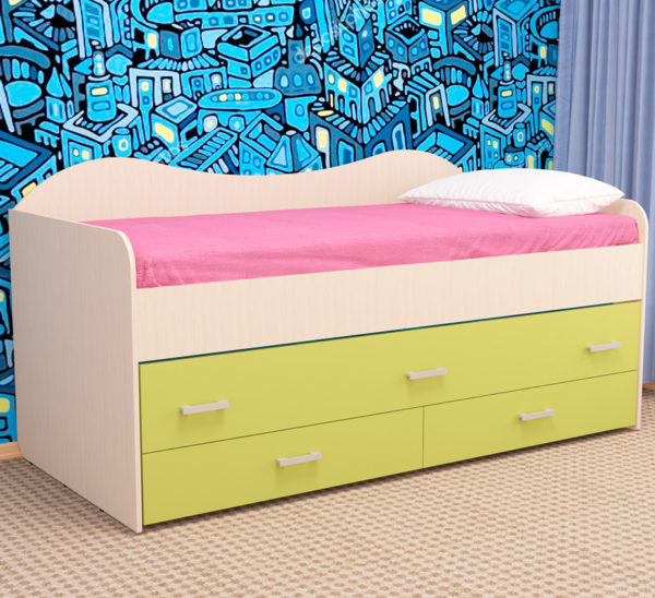 Кровать детская двухместная НИМФА