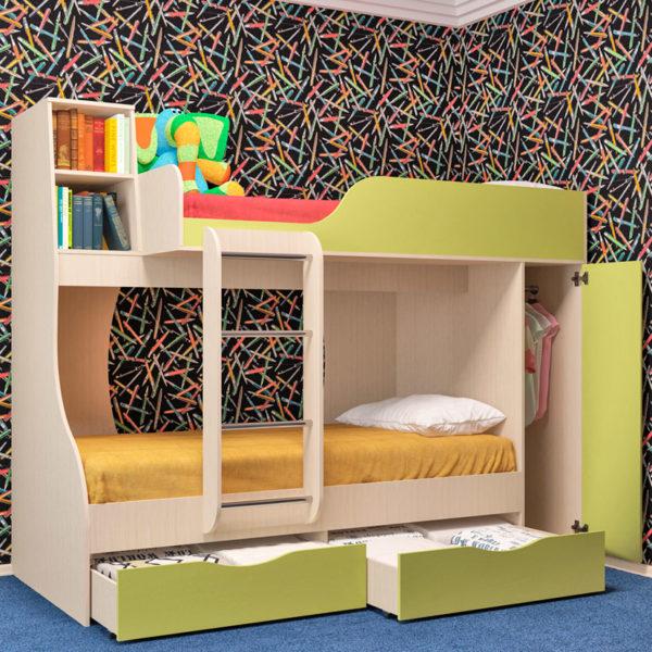 Кровать двухъярусная БАШМАЧОК