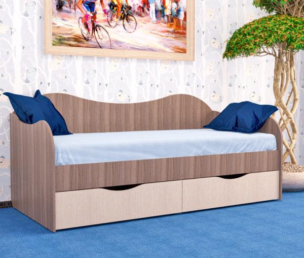 Кровать с ящиками 90/2 БОКС