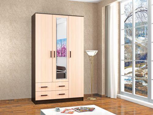 Шкаф Лагуна 3-х дверный с зеркалом