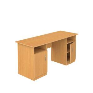Стол письменный 2-тумбовый 1300х600х750мм ЛДСП  бук, Ольха