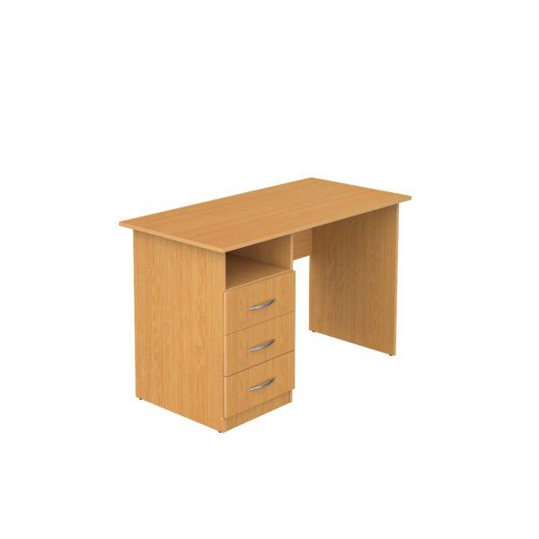 Стол письменный 1-тумбовый с ящиками  1050х600х750мм Лдсп бук, ольха