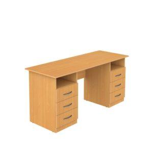Стол письменный 2-тумбовый с ящиками 1300х600х750мм ЛДСП  бук, Ольха