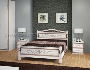 Кровать Карина-5 дуб молочный