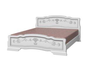 Кровать Лакированная белый жемчуг
