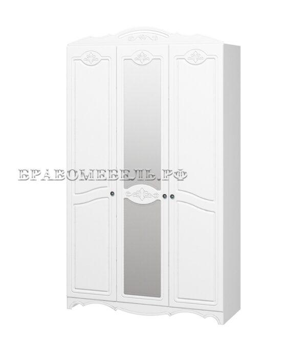 Шкаф распашной 3-х дверный Лотос белый