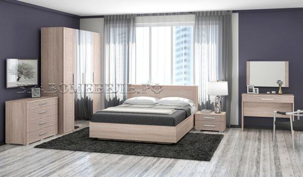 Спальный гарнитур Эдем дуб санома/мокко глянец