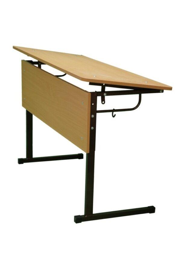 Стол ученический, регулируемый по высоте №3-5, с наклоном столешницы